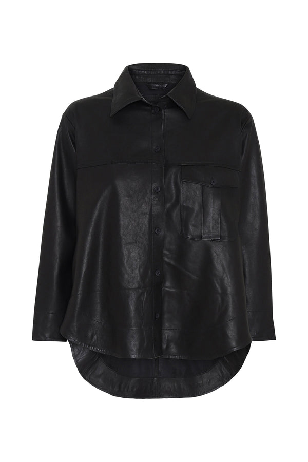 Maria Thin Leather Shirt