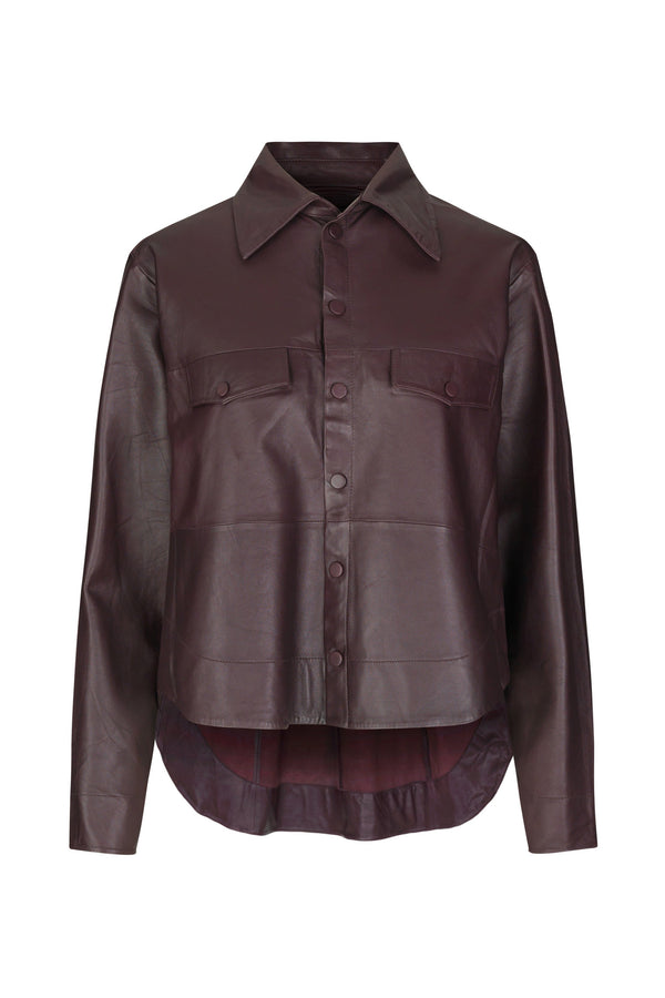 Naomi Thin Leather Shirt