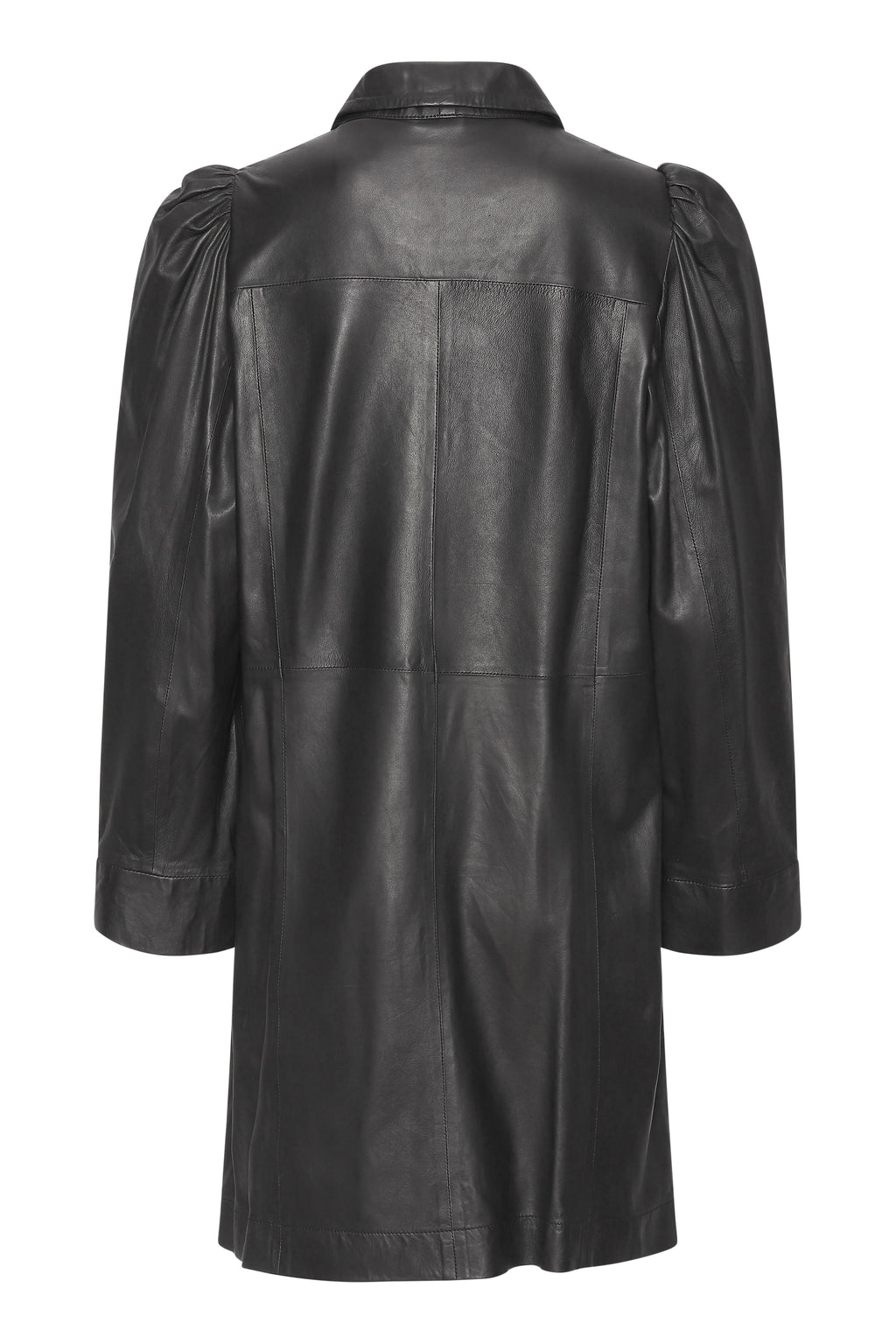 Puff thin leather dress