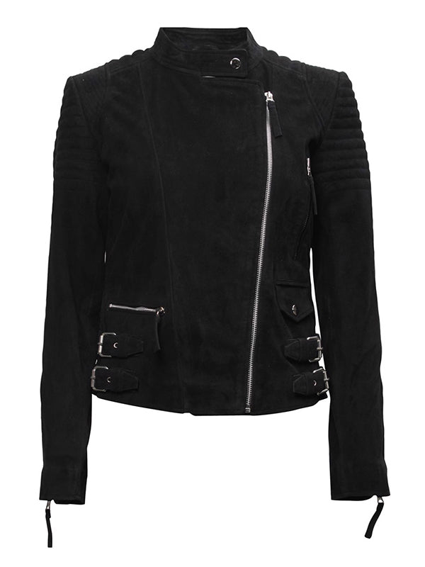 City Biker Suede Jacket