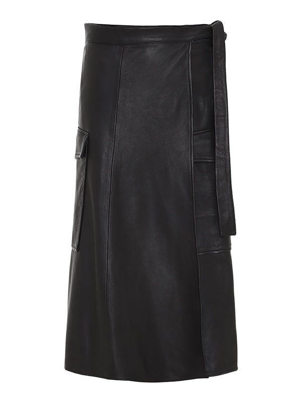 Adeline heavy leather skirt