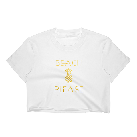 Beach Please Crop Top
