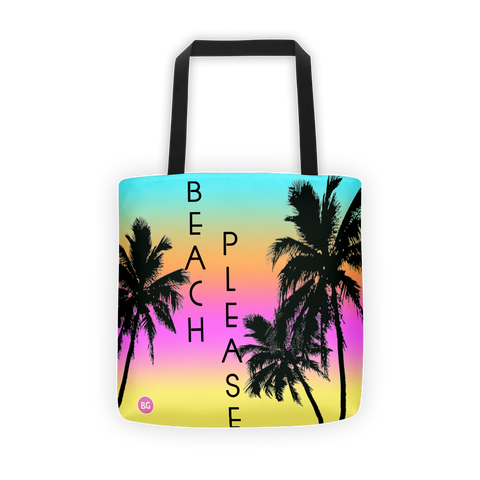All Over Beach Please Tote