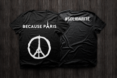 BecauseParis Black T-Shirt