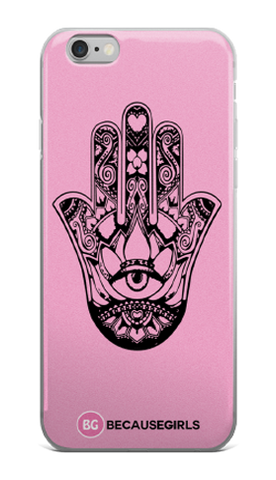 Hamsa Hand iPhone Case- Pink