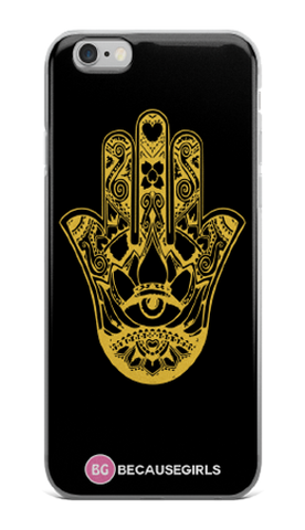 Hamsa Hand iPhone Case- Black