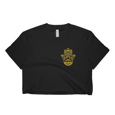 Gold Hamsa Hand Crop Top