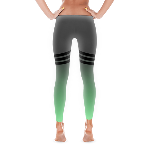 Mint & Grey Duo-tone Leggings