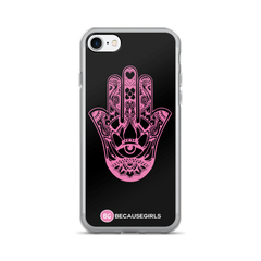 Hamsa Hand iPhone Case - Black