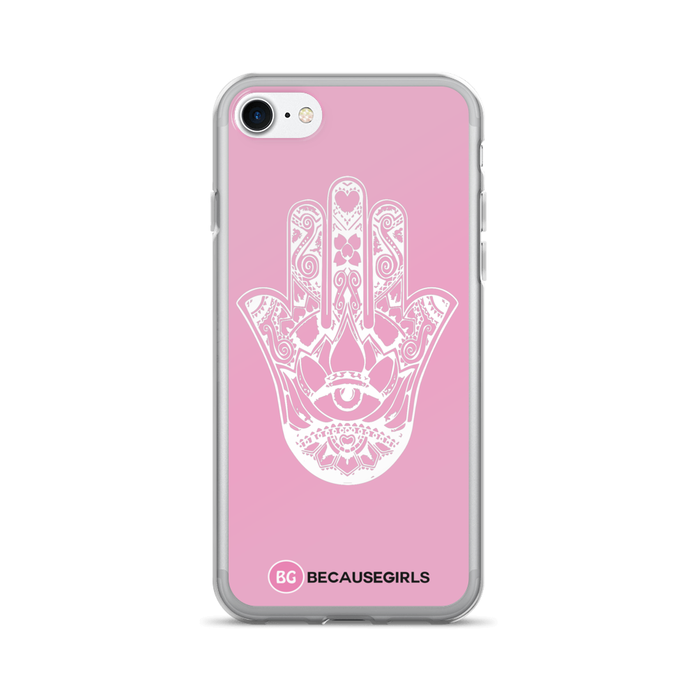 Hamsa Hand iPhone Case - Pink