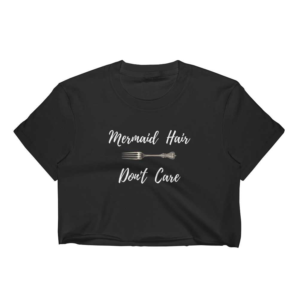 Mermaid Hair Don't Care Crop Top