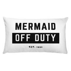 Mermaid Off Duty Long Pillow