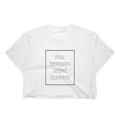 Real Mermaids Smoke Seaweed Crop Top