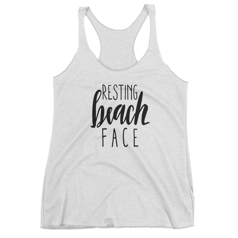 Resting Beach Face Girls Tank