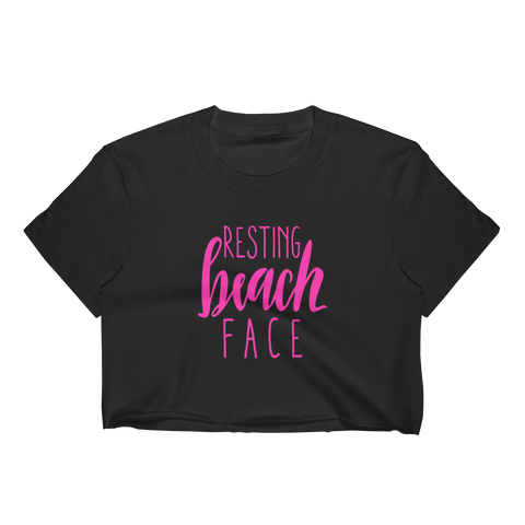 Resting Beach Face Crop Top