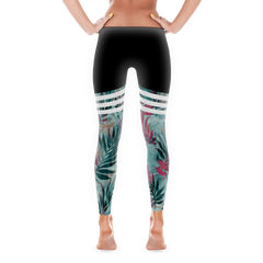 Tropical Duo-tone Leggings