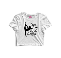 BecauseYoga&Coffee Crop Top