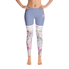 Light Blue Floral Leggings