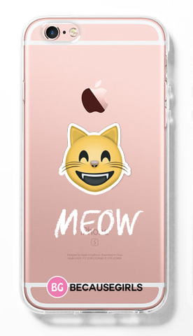 Meow Clear iPhone Case