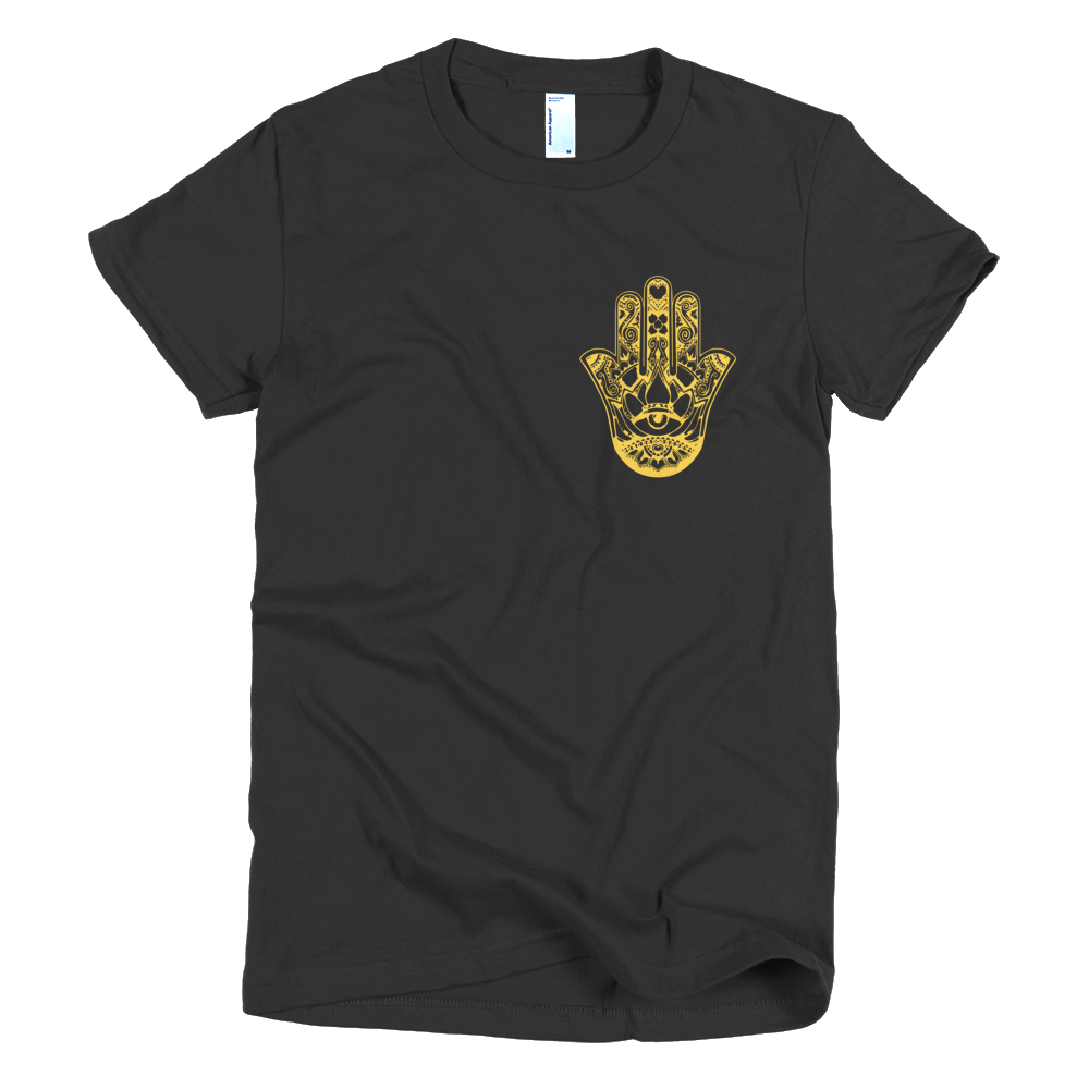 Gold Hamsa Hand Girls T-Shirt