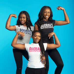 Black BOOBAES Ladies T-Shirt