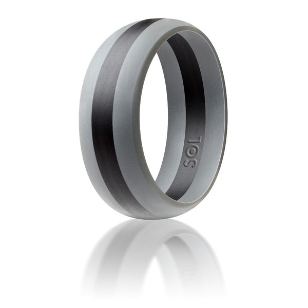 center inlaid grey ip brushed domed rose sage tungsten gold ring inside wedding plated rings