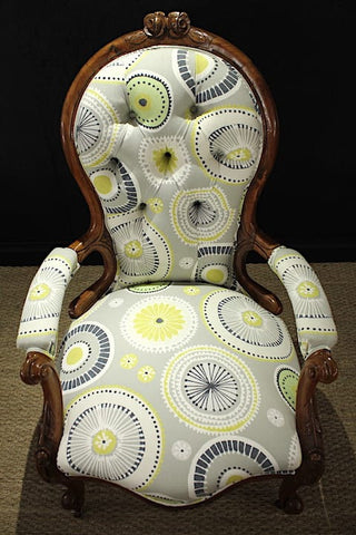 reupholstered victorian windsor chair