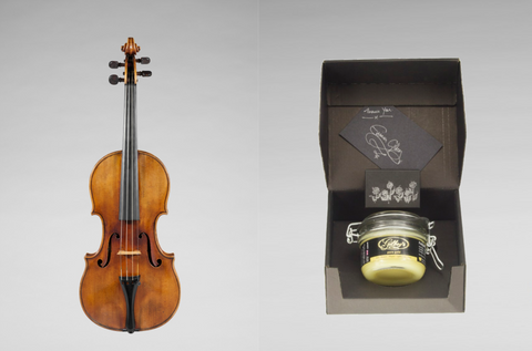 A prized violin with Gilboys 'pure gold' beeswax polish