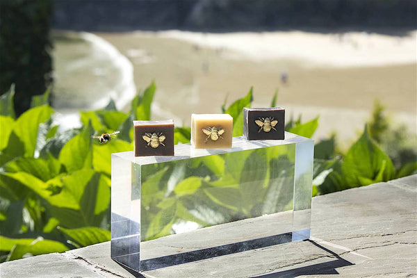 Hand Gilded Pure Beeswax Repair Cubes
