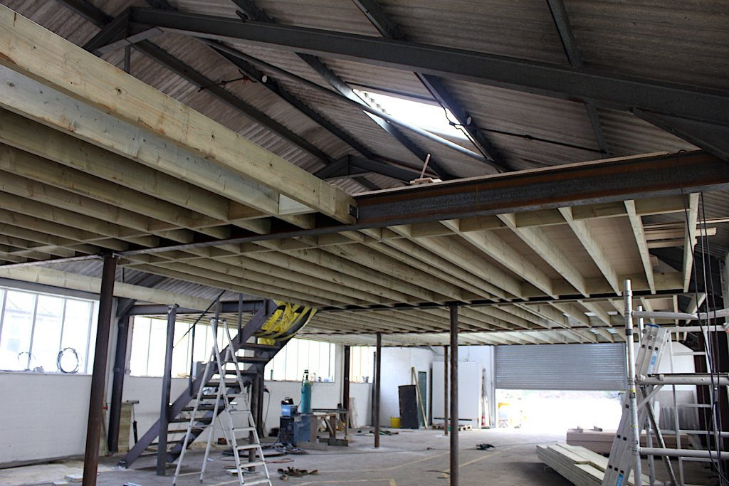 mezzanine floor going in