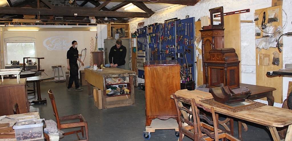 inside the Riverford workshop