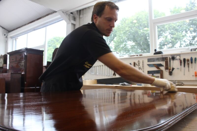 Will french polishing a dining table