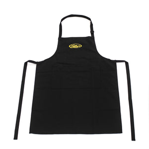 Restorer's Bib Apron in Black polycotton with Gilboys logo