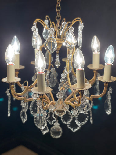 Antique French Cage Chandelier - 'Natalie'