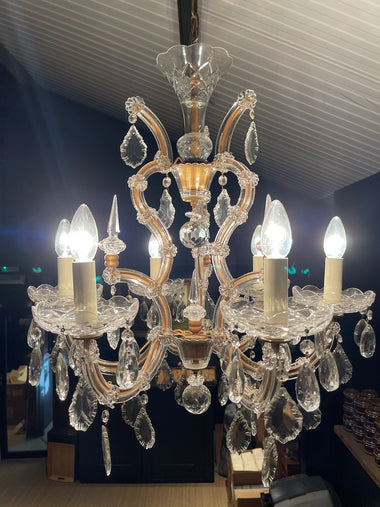 Vintage Marie Therese Glass Clad Chandelier - 'Francis'