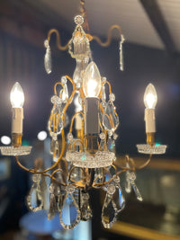 Vintage French Cage Chandelier - 'Emily'