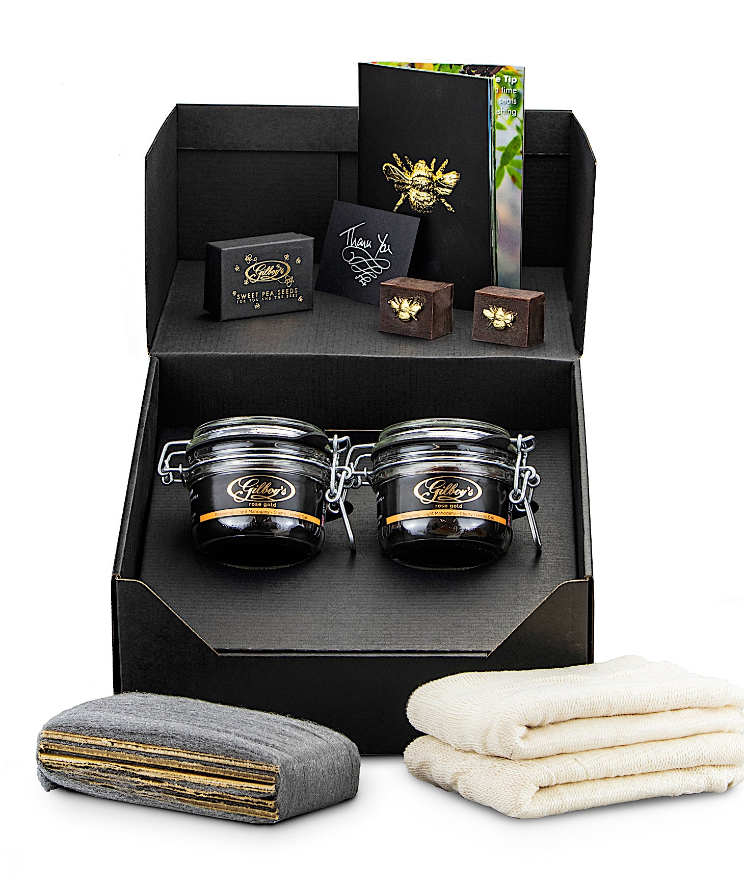 gilboys rosewood polishing kit (rose gold twin pack)