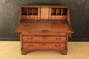 Antique Georgian Bureau in Solid Oak c1770