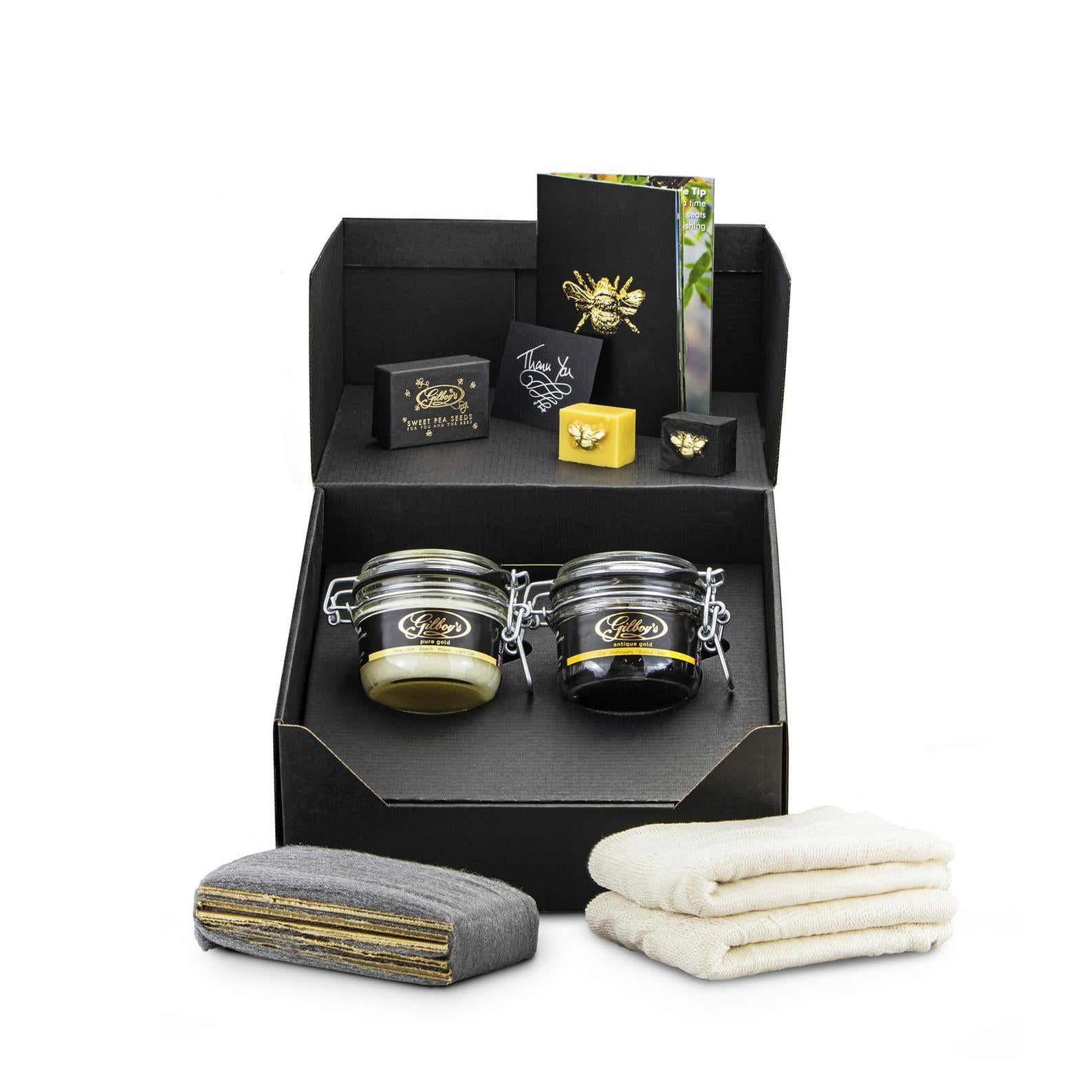 beeswax wood polishing double kit (pure + antique)