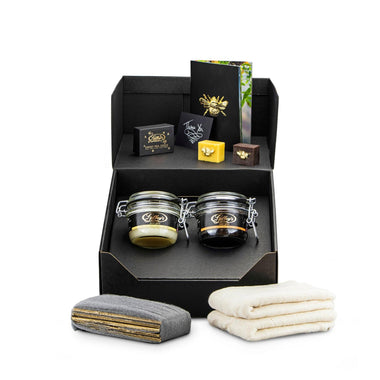 beeswax wood polishing double kit (pure + rose)