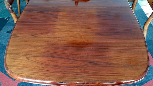 Sun bleached dining table