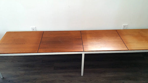 sun bleached wooden table top