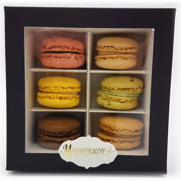 6 macarons de Paris in luxe doosje