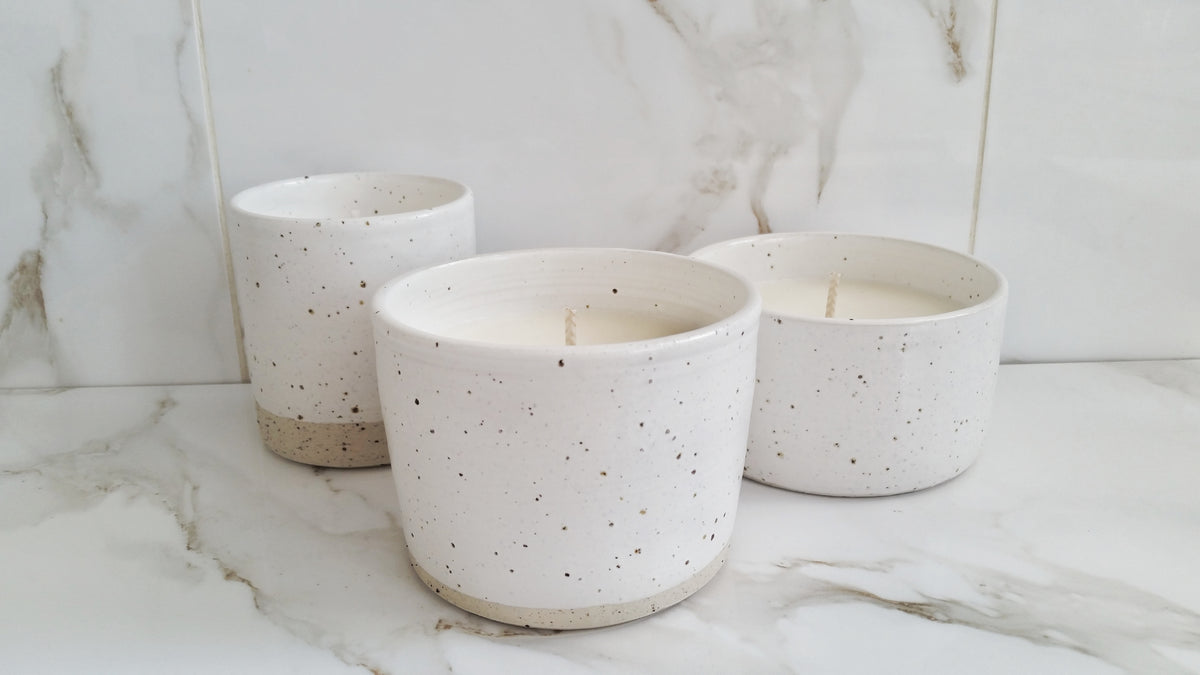 Speckled vessel - candle 1