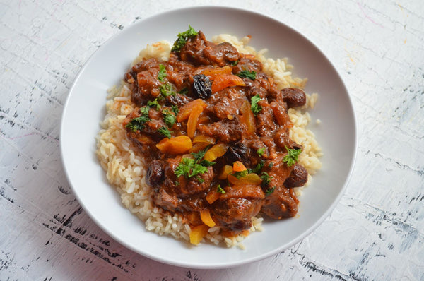Slow-Cooked Lamb and Olive Tagine