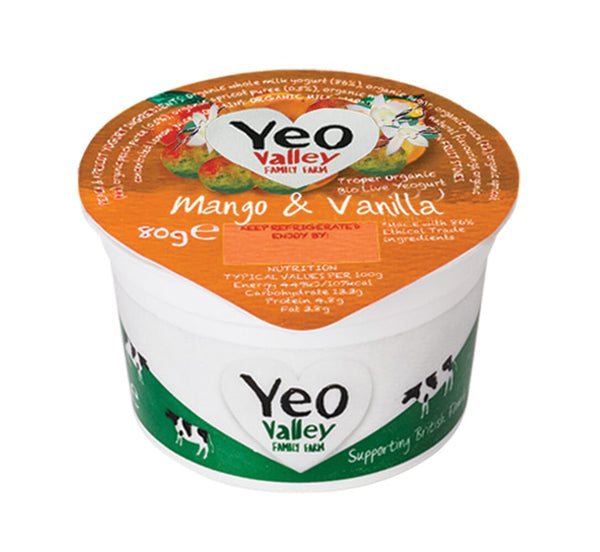 Grocery Delivery London - Yeo Valley Organic Mango And Vanilla Yoghurt 80g same day delivery