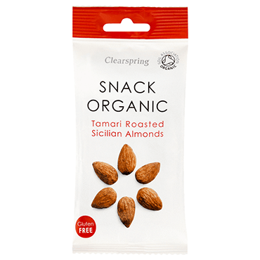 Grocery Delivery London - Clearspring Tamari Roasted Sicilian Almonds 35g same day delivery