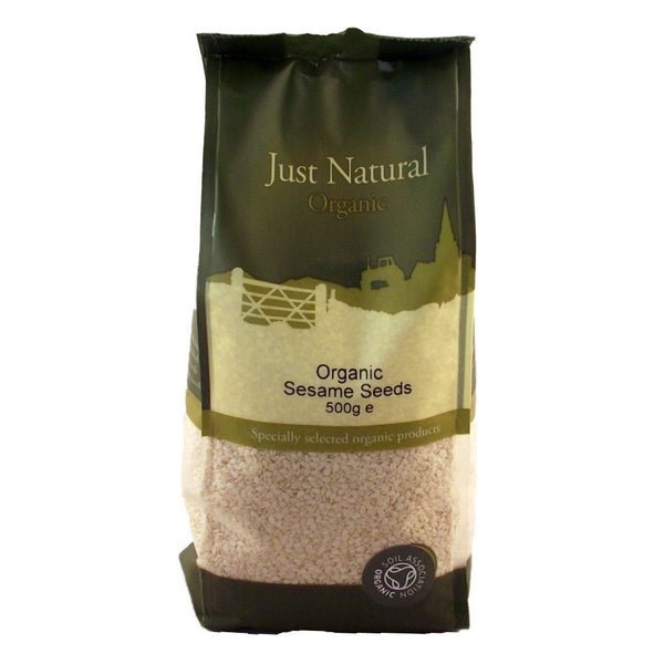 Grocery Delivery London - Just Natural Organic Sesame Seeds Hulled 500g same day delivery