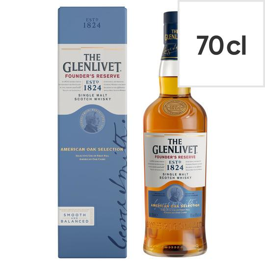 Grocemania Grocery Delivery London| Glenvilet Founder's Reserve 70cl