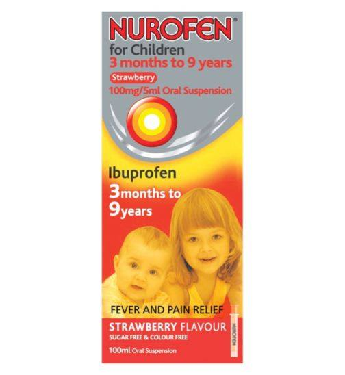 Grocemania Grocery Delivery London| Nurofen For Children Strawberry Flavour 100ml